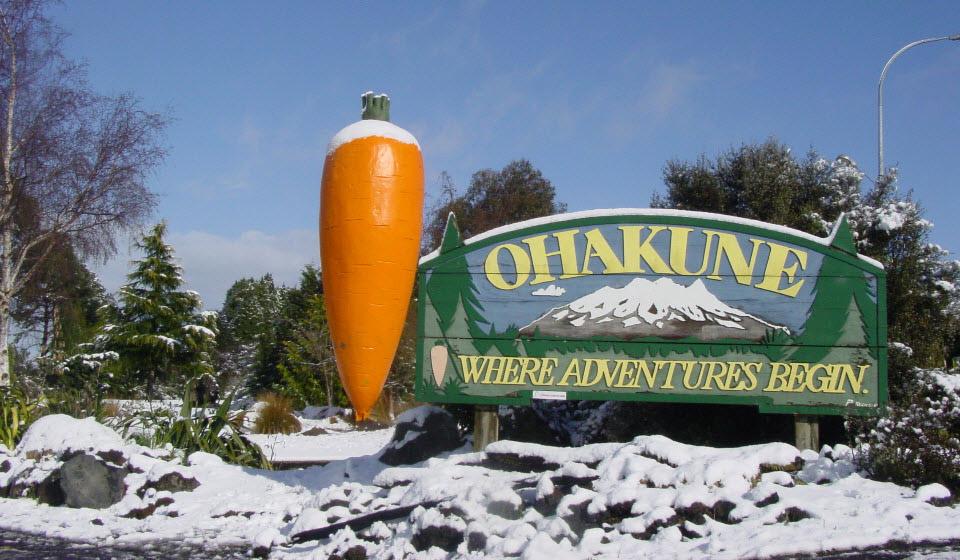 Ohakune New Zealand  city images : ski capital of the North Island, the Carrot Capital of New Zealand ...